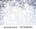 christmas background with... | Shutterstock .eps vector #767908090