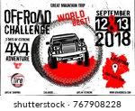 off road event vector poster.... | Shutterstock .eps vector #767908228