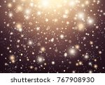 christmas background with... | Shutterstock .eps vector #767908930