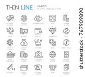 collection of casino thin line... | Shutterstock .eps vector #767909890