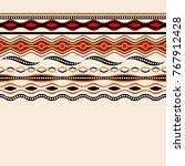 ethnic seamless pattern.... | Shutterstock .eps vector #767912428