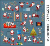 santa clauses in different... | Shutterstock .eps vector #767912788