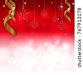christmas background. vector...   Shutterstock .eps vector #767913178