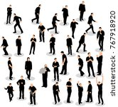 silhouette people group stand | Shutterstock . vector #767918920