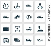 automobile icons set with... | Shutterstock .eps vector #767920420