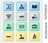 car icons set with transport...   Shutterstock .eps vector #767920519