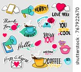 collection of flat design... | Shutterstock .eps vector #767922670