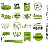 stickers and badges for organic ... | Shutterstock .eps vector #767922673