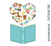 imagination concept. open book... | Shutterstock .eps vector #767926738