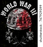 skull t shirt graphic design  | Shutterstock .eps vector #767929399