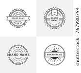 vintage retro style emblem ... | Shutterstock .eps vector #767930794