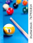billiard pool game nine ball... | Shutterstock . vector #767931814