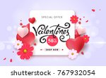 valentines day sale background... | Shutterstock .eps vector #767932054