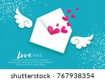 greeting card for valentine's... | Shutterstock .eps vector #767938354