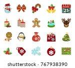 christmas icons set   Shutterstock .eps vector #767938390