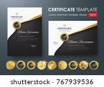 certificate template with... | Shutterstock .eps vector #767939536