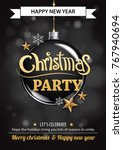 merry christmas party and ball... | Shutterstock .eps vector #767940694