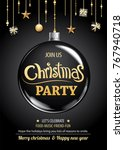 merry christmas party and ball... | Shutterstock .eps vector #767940718
