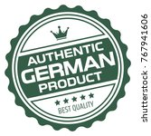 authentic german product stamp | Shutterstock .eps vector #767941606