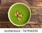 green pea soup   Shutterstock . vector #767946550