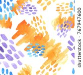 abstract hand drawn brush...   Shutterstock .eps vector #767947600