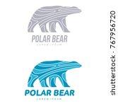 stylized graphic polar bear... | Shutterstock .eps vector #767956720