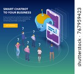 chatbot and future marketing... | Shutterstock .eps vector #767959423