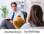 patient visiting psychiatrist... | Shutterstock . vector #767959780