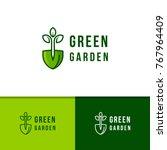 green garden environment logo... | Shutterstock .eps vector #767964409