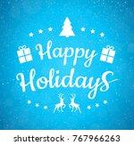 beautiful christmas typography...   Shutterstock .eps vector #767966263