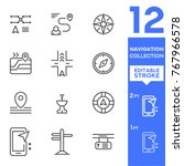 navigation collection icons....   Shutterstock .eps vector #767966578