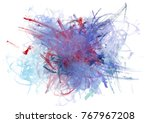 chaotic abstract colorful brush ... | Shutterstock . vector #767967208