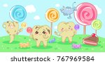 cartoon decay tooth problem... | Shutterstock .eps vector #767969584