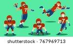 cartoon american football... | Shutterstock .eps vector #767969713