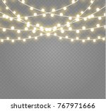 christmas lights isolated on... | Shutterstock .eps vector #767971666