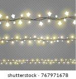 christmas lights isolated on... | Shutterstock .eps vector #767971678