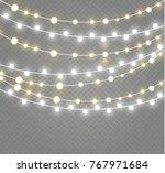 christmas lights isolated on... | Shutterstock .eps vector #767971684