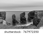 beautiful long exposure black... | Shutterstock . vector #767972350