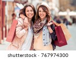 shopping and tourism concept ... | Shutterstock . vector #767974300