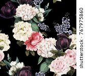 seamless floral pattern with... | Shutterstock .eps vector #767975860