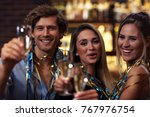 picture showing group of... | Shutterstock . vector #767976754