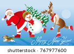 christmas vector illustration.... | Shutterstock .eps vector #767977600