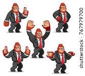 vector set of businessman...   Shutterstock .eps vector #767979700
