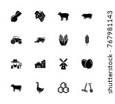 farming icons   expand to any...   Shutterstock .eps vector #767981143