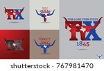 texas symbol design with word... | Shutterstock .eps vector #767981470