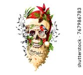 illustration of skull with... | Shutterstock .eps vector #767986783