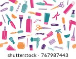 seamless background from... | Shutterstock .eps vector #767987443