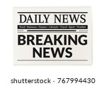 daily news newspaper. breaking...   Shutterstock .eps vector #767994430