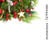 christmas background with xmas... | Shutterstock . vector #767994484