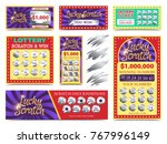 winning lotto tickets and... | Shutterstock .eps vector #767996149